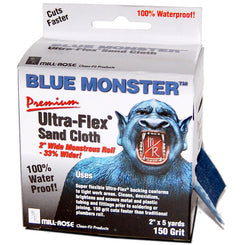 Mill Rose  Blue Monster Ultra-Flex  5 yd. L x 2 in. W 150 Grit Medium  Aluminum Oxide  Sanding Cloth