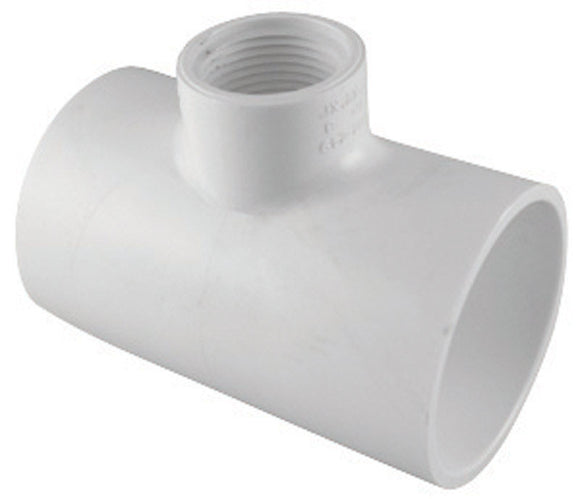 Charlotte Pipe  Schedule 40  3/4 in. Slip   x 2 in. Dia. Slip  PVC  Reducing Tee