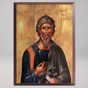 Saint Andrew the Apostle, the First-Called, byzantine custom made icon by the sisters of monasterevmc.org