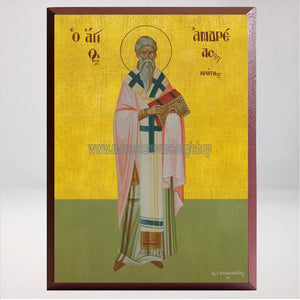 Saint Andrew of Crete, Byzantine Orthodox Icon made by the sisters of monasterevmc.org / Icône byzantine orthodoxe de Saint André de Crète, faite à la main par les soeurs du monasterevmc.org