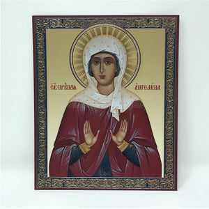 Russian Orthodox Icon of Saint Angelina made by the sisters of monasterevmc.org - Icône russe orthodoxe de Sainte Angelina faite à la main par les soeurs du monasterevmc.org