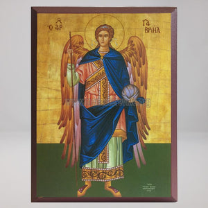 Holy Archangel Gabriel, byzantine orthodox custom made icon by the sisters of monasterevmc.org