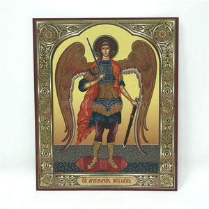 Archangel Michael, Russian Orthodox Icon made by the sisters of monasterevmc.org / Icône russe orthodoxe de l'Archange Michel faite à la main par les soeurs du monasterevmc.org