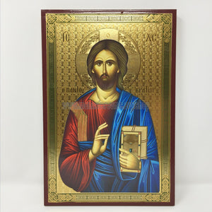 Christ Pantocrator, Russian orthodox custom made icon by the sisters of monasterevmc.org / Christ Pantocrator, icône de style russe orthodoxe fabriquée par les soeurs du monasterevmc.org