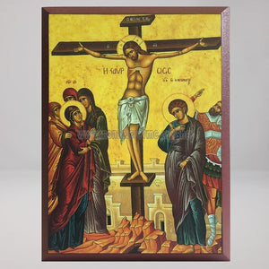 Crucifixion of Christ, byzantine orthodox custom made icon by the sisters of monasterevmc.org| Crucifixion  du Christ,  icône byzantine orthodoxe fabriquée par les soeurs du monasterevmc.org