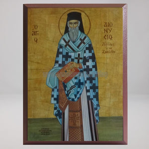 Saint Dionysios of Zakynthos, Archbishop of Aegina,, byzantine custom made icon by the sisters of monasterevmc.org