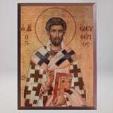Saint Eleftherios the Hieromartyr, byzantine custom made icon by the sisters of monasterevmc.org