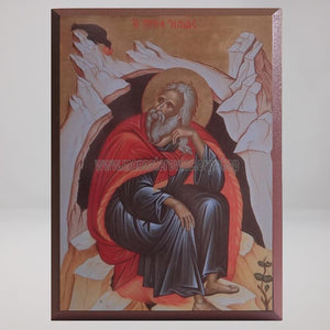 Saint Elias the Prophet, byzantine orthodox custom made icon by the sisters of monasterevmc.org