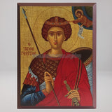 Saint George the Great Martyr, byzantine orthodox custom made icon by the sisters of monasterevmc.org