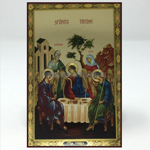 Holy Trinity, russian orthodox custom made icon by the sisters of monasterevmc.org| Sainte Trinité, icône russe orthodoxe fabriquée par les soeurs du monasterevmc.org