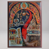 Last Judgment, byzantine orthodox custom made icon by the sisters of monasterevmc.org
