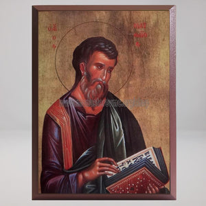 Saint Matthew the Apostle and Evangelist, byzantine custom made icon by the sisters of monasterevmc.org / Saint Mathieu l'apôtre et évangéliste, icone byzantine orthodoxe fabriquée au Québec par les soeurs du monasterevmc.org