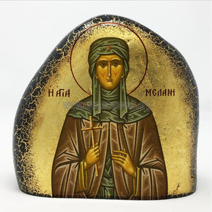 St Melanie of Rome orthodox icon on stone monasterevmc.org
