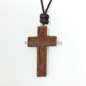 Orthodox Christian wooden engraved cross sold in Canada by the sisters of monasterevmc.org / Croix orthodoxe en bois vendu au Québec par les soeurs du monasterevmc.org