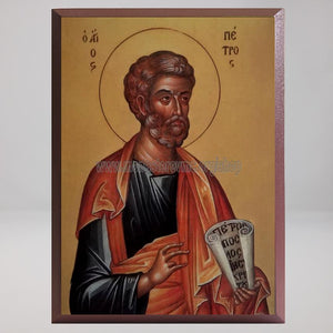 Saint Peter the Apostle, byzantine orthodox custom made icon in Canada by the sisters of monasterevmc.org / Saint Pierre l'apôtre, icône byzantine orthodoxe fabriquée au Québec par les soeurs du monasterevmc.org