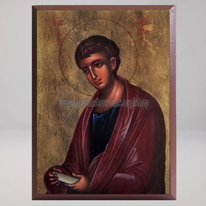 Saint Philip the Apostle, byzantine orthodox custom made icon in Canada by the sisters of monasterevmc.org / Saint Philippe l'apôtre, icône byzantine orthodoxe fabriquée au Québec par les soeurs du monasterevmc.org