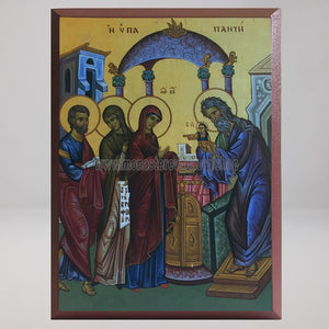 Presentation of Christ to the temple, byzantine orthodox custom made icon by the sisters of monasterevmc.org| Présentation du Christ au temple,  icône byzantine orthodoxe fabriquée par les soeurs du monasterevmc.org