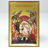 Resurrection of our Lord Jesus Christ, Russian orthodox custom made icon by the sisters of monasterevmc.org / Résurrection du Christ notre Seigneur, icône russe orthodoxe fabriquée par les soeurs du monasterevmc.org