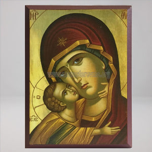 Theotokos Sweet Kissing detail