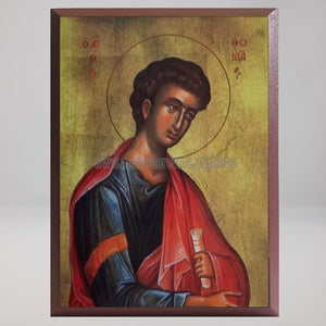 Saint Thomas the Apostle, byzantine orthodox custom made icon in Canada by the sisters of monasterevmc.org / Saint Thomas l'apôtre, icône byzantine orthodoxe fabriquée au Québec par les soeurs du monasterevmc.org