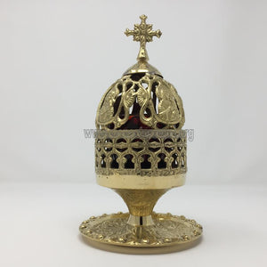 Vigil Oil Lamp with Mother of God