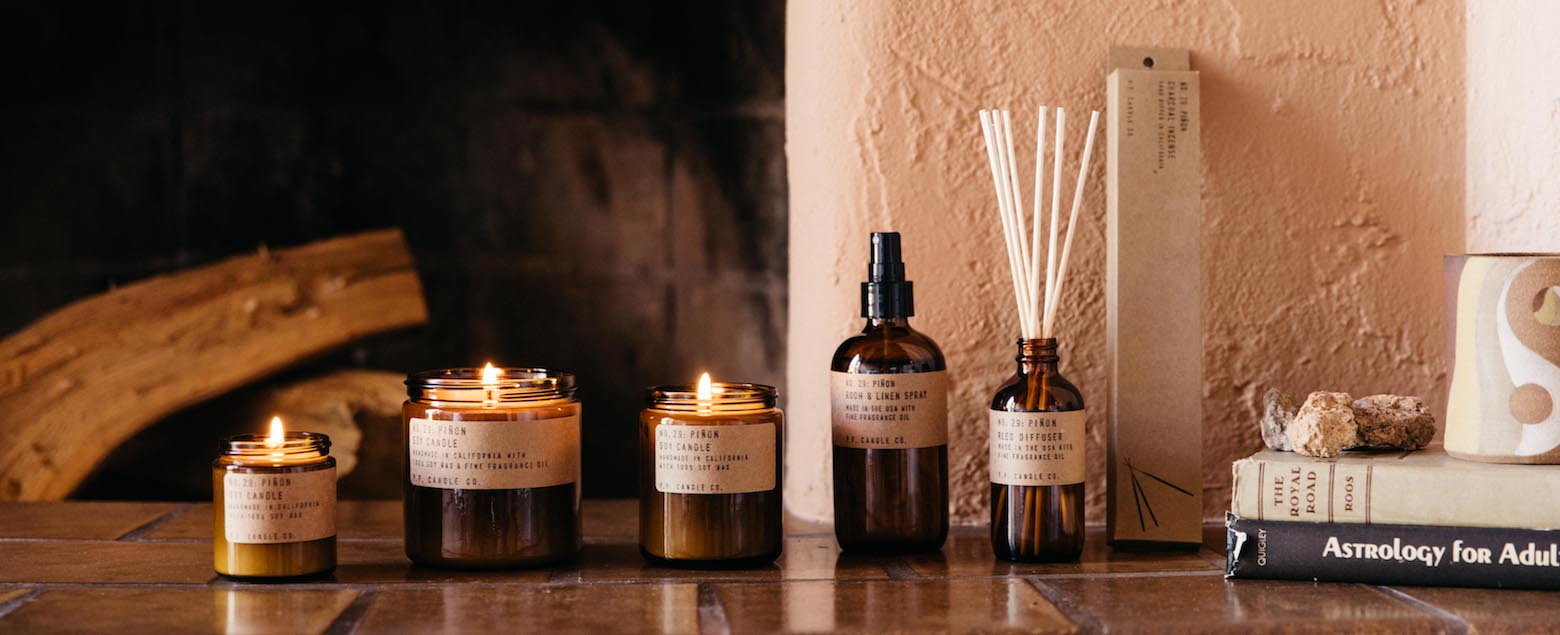 PF Candle Co San Francisco pinon scent collection