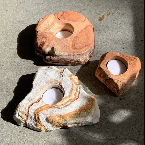 Sandstone Tea Light Holder
