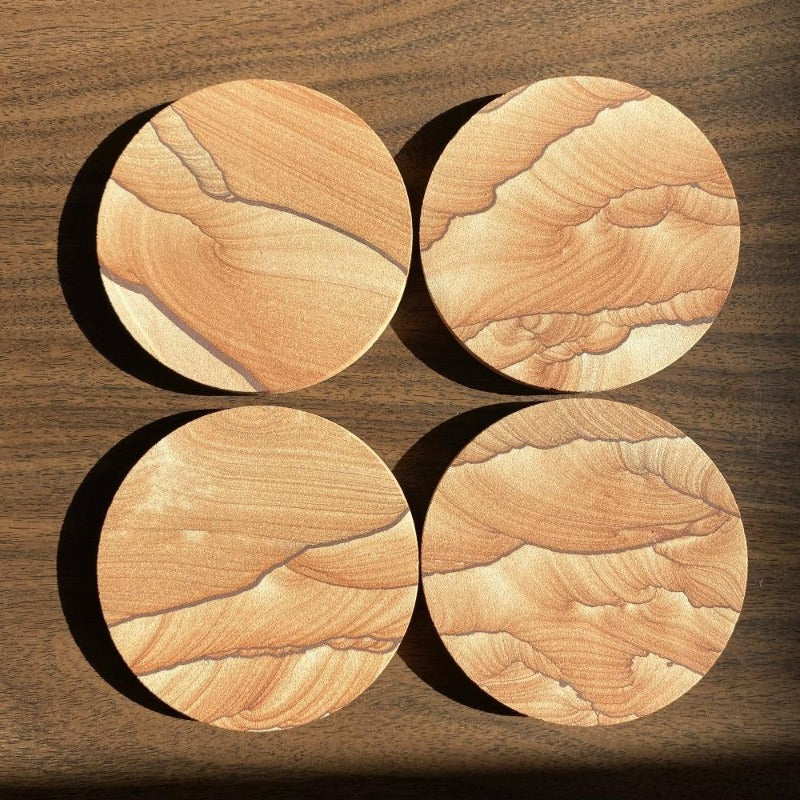 Sandstone Coasters - Set of 4