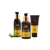 Cleansing Lotion, Indian Rose Face Wash & Walnut and Turmeric Face Scrub - Combo Set