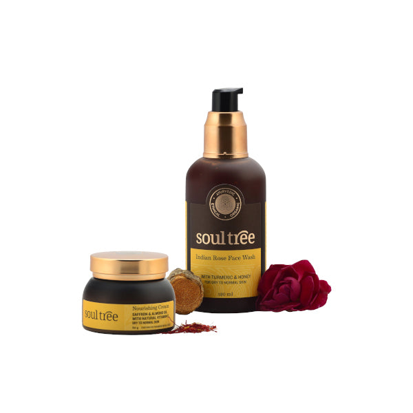 Indian Rose Face Wash & Nourishing Cream - Combo Set