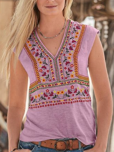 Women Folk-Custom Sleeveless V Neck Shirts