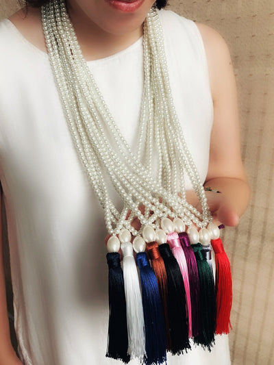 Women Daily Pearl Fringed Necklaces