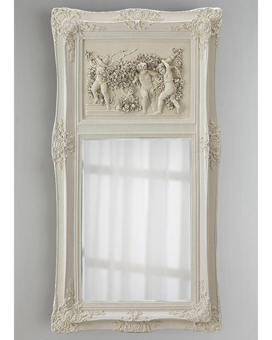 "Зеркало в раме ""Францини"" (distressed chalk white)"