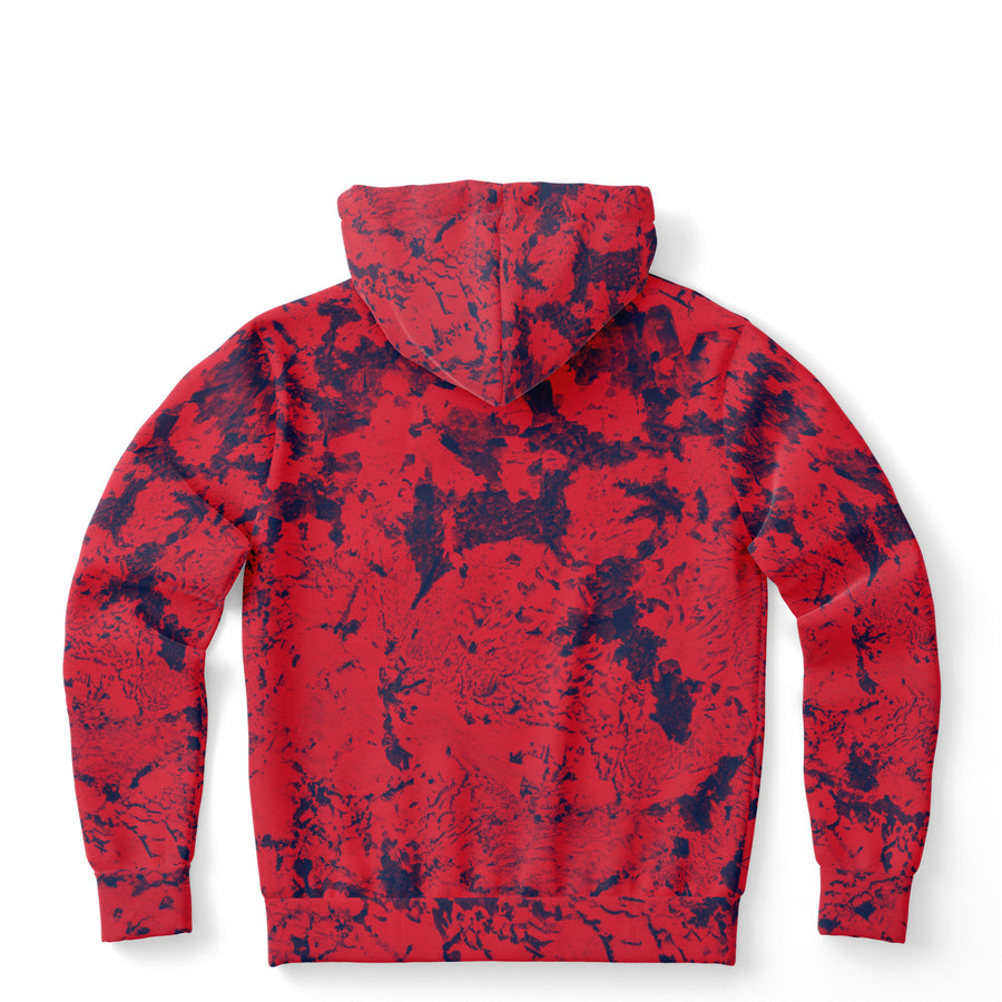 Navy Red Abstract Hoodie