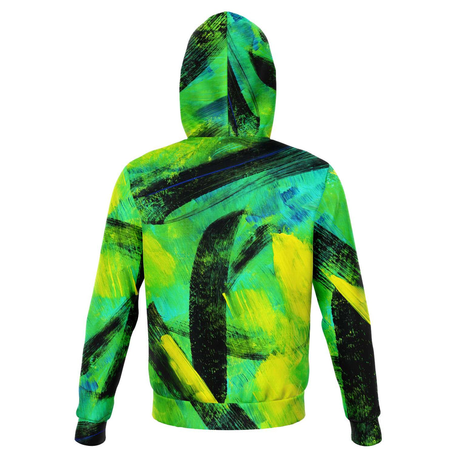 Yellow Lime Graffiti Hoodie