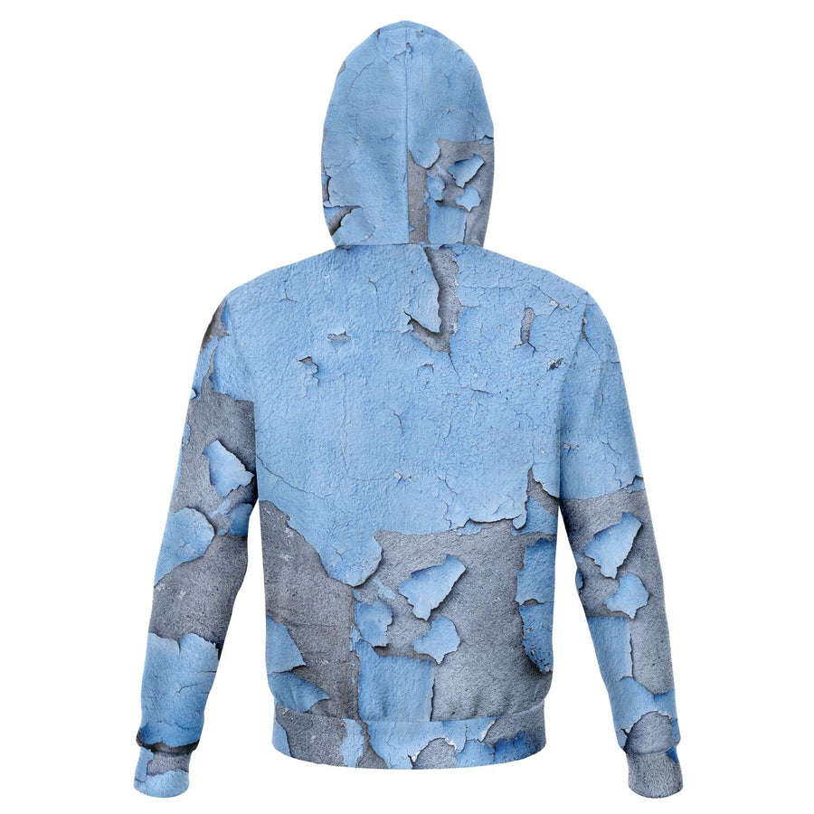 Cracked Blue Paint Hoodie