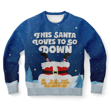 This Santa Loves To Go Down Sweatshirt