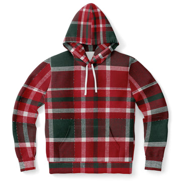 Red Green Plaid Hoodie