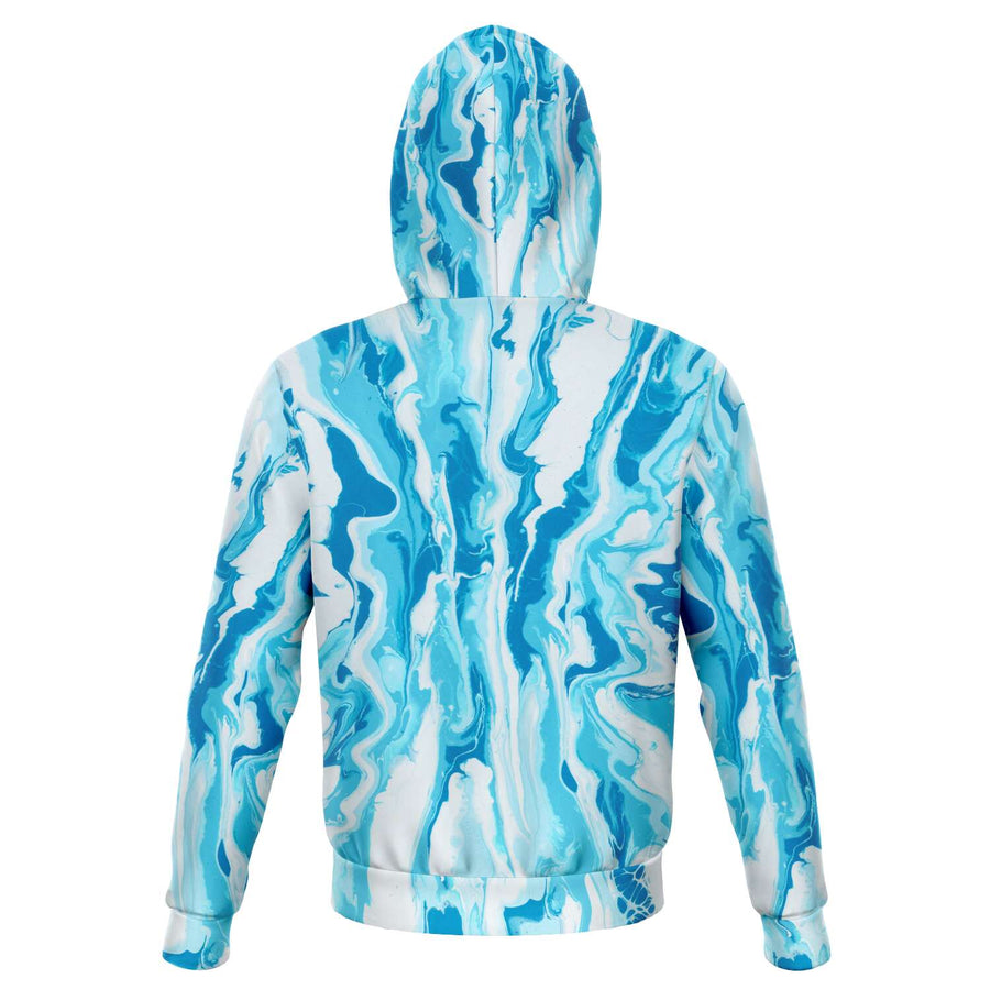 Blue White Paint Hoodie