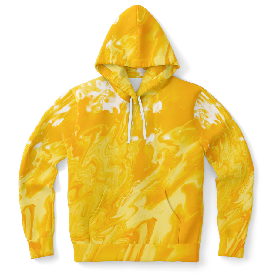Yellow Paint Smear Hoodie