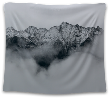 Cloudy Snow Mountain Tapestry - CollegeWares