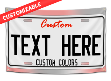 *CUSTOM* License Plate Flag - CollegeWares