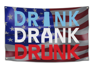 Drink Drank Drunk Flag - CollegeWares