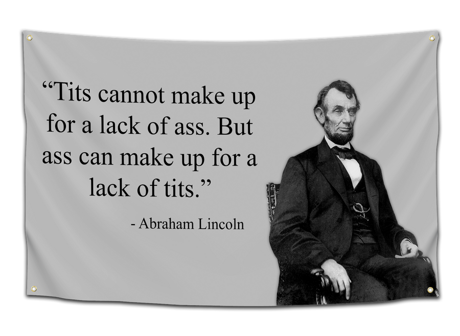 Honest Abe's Lack of Talent Flag - CollegeWares