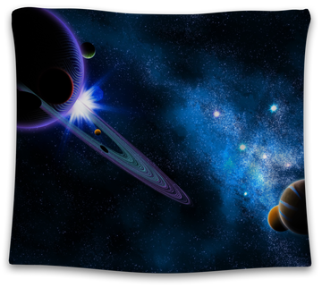 Sci Fi Galaxy Tapestry - CollegeWares