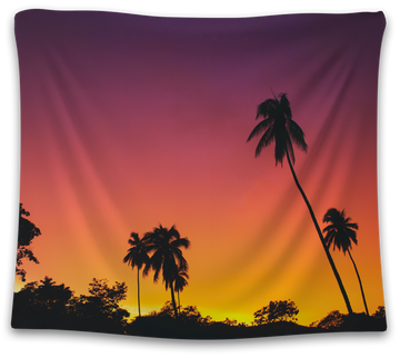 Sunset Palm Tree Tapestry - CollegeWares