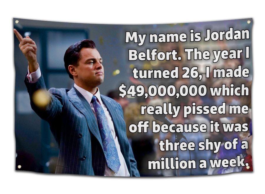 Wolf of Wall Street 43 Million Flag - CollegeWares