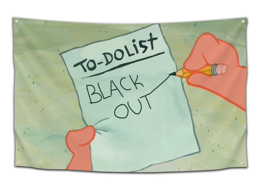 Patrick's To-Do List (Various Designs) Flag - CollegeWares