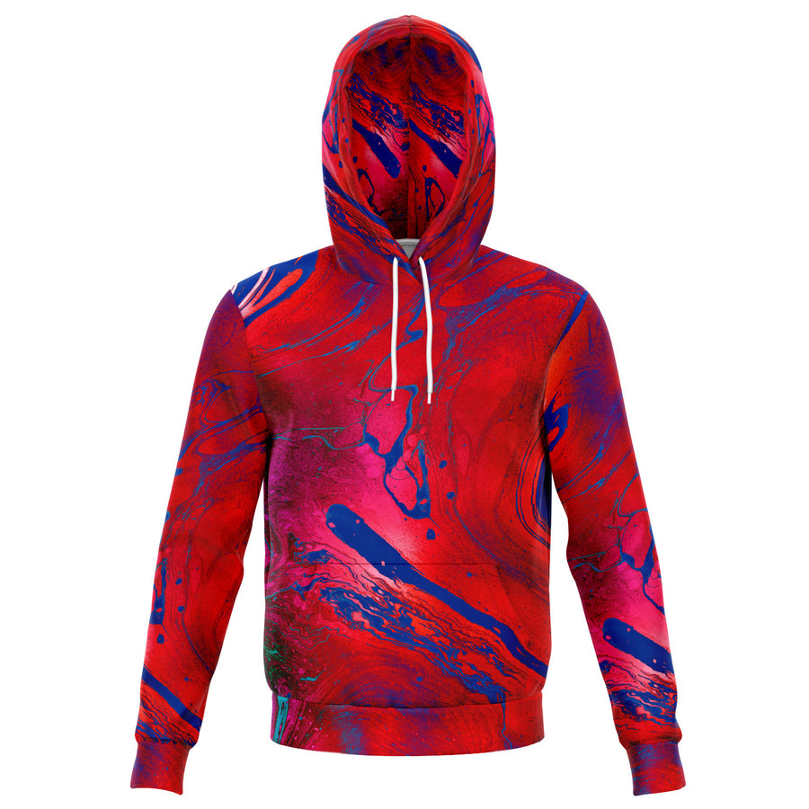 Blue Red Abstract Hoodie
