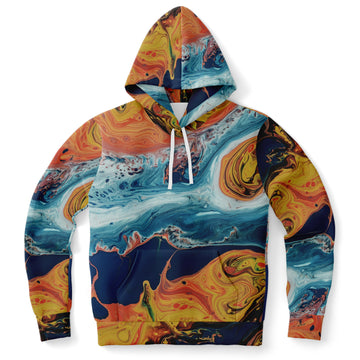 Orange Blue Paint Hoodie